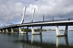 De brug van de Whangareihaven - Nieuw Zeeland Royalty-vrije Stock Fotografie