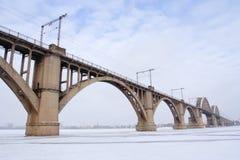 De brug van de winter Royalty-vrije Stock Afbeelding