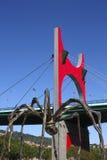 De brug van de Wondzalf van La en de reuzespin. Bilbao Stock Afbeeldingen