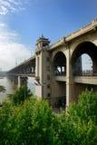 De brug van de Yangtzerivier, China Royalty-vrije Stock Afbeelding