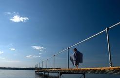 De brug van de zomer Stock Afbeelding