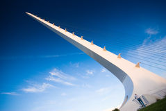 De brug van de zonnewijzer, Redding, Californië Stock Foto