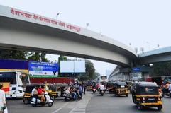 De brug van Deshbhaktakeshavrao Jedhe, Swargate, Pune, India stock afbeeldingen