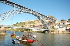 De brug van Dom Luï ¿ ½ s in Porto in Portugal Stock Foto