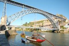 De brug van Dom Luï ¿ ½ s in Porto in Portugal Stock Afbeelding
