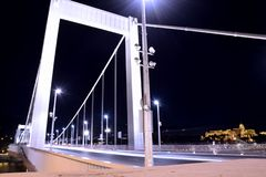 De brug van Elisabeth, Boedapest royalty-vrije stock foto