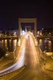 De brug van Elisabeth´s in de nacht Stock Afbeeldingen