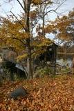 De Brug van Fallasburg in de Herfst Royalty-vrije Stock Afbeeldingen