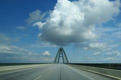 De brug van Fehmarn Stock Afbeeldingen