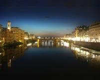 De brug van Florence stock afbeeldingen
