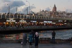 De brug van Galata Royalty-vrije Stock Afbeeldingen