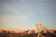De brug van Garbatella in Rome Royalty-vrije Stock Foto