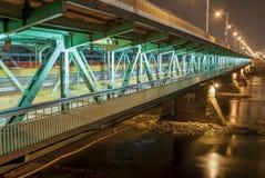 De brug van Gdanski (het Meeste Gdanski), Warshau, Polen. Royalty-vrije Stock Foto's