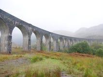 De brug van de Glenfinnantrein stock afbeelding