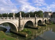 De brug van heilige Angelo Stock Foto