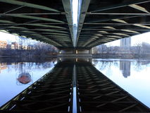 De brug van het Ave van Henneapin Stock Foto