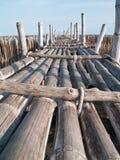 De brug van het bamboe Royalty-vrije Stock Foto's