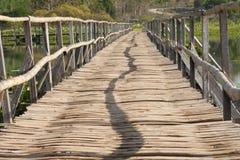 De brug van het bamboe Stock Afbeeldingen