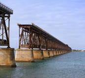 De brug van het de staatspark van Bahia Honda in de Sleutels van Florida Royalty-vrije Stock Afbeelding