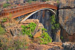 De brug van het Geluk van Bourke, Zuid-Afrika Stock Foto's