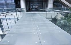 De brug van het glas Stock Foto's