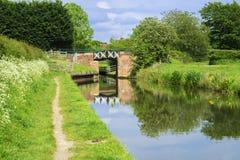 De brug van het kanaal Stock Afbeeldingen