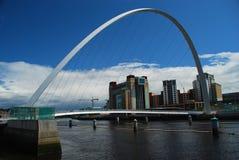 De Brug van het millennium. Newcastle op de Tyne, het UK stock foto