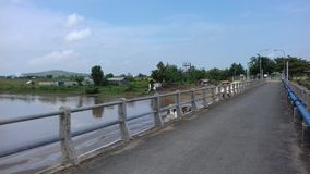 De Brug van het oosten Java Indonesia van DAMbenges Sendangharjo Brondong Lamongan Stock Afbeelding