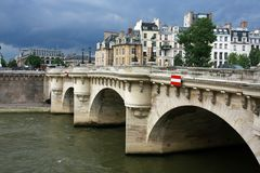 De brug van het Pont-Neuf Stock Foto