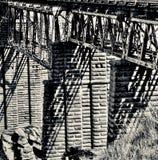 De Brug van het Poolburnviaduct, Centrale Otago stock fotografie