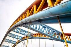 De brug van het staal Stock Afbeeldingen