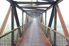 De brug van het staal voor mensen royalty-vrije stock fotografie