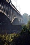De brug van het treinstaal in Warshau Royalty-vrije Stock Fotografie