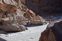 De brug van Himalayan Stock Foto