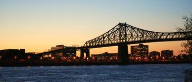De brug van Jacques Cartier Stock Afbeeldingen