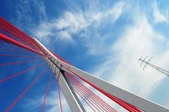 De brug van John Paul II in Gdansk Stock Afbeeldingen