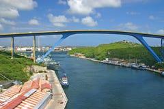 De Brug van Juliana, Curacao stock fotografie