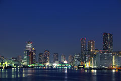 De Brug van Kachidoki en Rivier Sumida in Tokyo, Japan stock fotografie