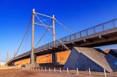 De brug van Khoral batah in Sur Oman stock foto