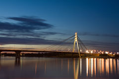 De Brug van Kiev stock foto's