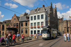 De brug van Kleinevistmarkt gent belgië stock afbeeldingen