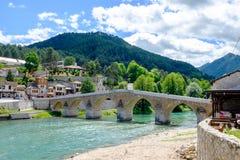De brug van de Konjicottomane, Mostar, Bosnië-Herzegovina stock afbeeldingen