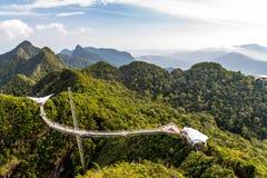 De Brug van de Langkawihemel, Langkawi-eiland, Maleisië Stock Foto's