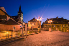 De Brug van leugenaars in Sibiu Stock Afbeelding