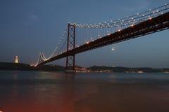 De Brug van Lissabon Royalty-vrije Stock Foto's