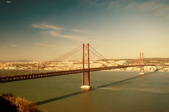 De Brug van Lissabon Royalty-vrije Stock Foto
