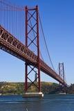 De Brug van Lissabon Stock Afbeelding