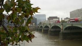 De brug van Londen Westminster stock footage
