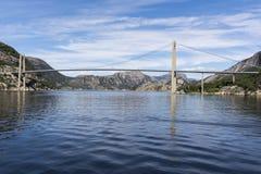 De brug van Lysefjordbrucke in Noorwegen Stock Foto