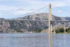 De brug van Lysefjordbrucke in Noorwegen Royalty-vrije Stock Foto's